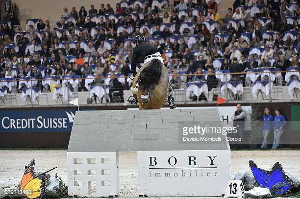 Eric Lamaze of Canada riding Fine Lady 5 during the 16th Rolex IJRC Top 10 Final International Jumping Competition during Rolex Grand Slam Geneva...