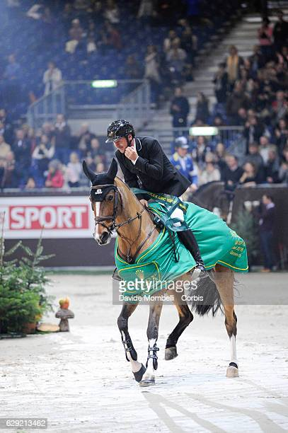 Eric Lamaze of Canada riding Fine Lady 5 during the prize giving ceremony for the 16th Rolex IJRC Top 10 Final International Jumping Competition...