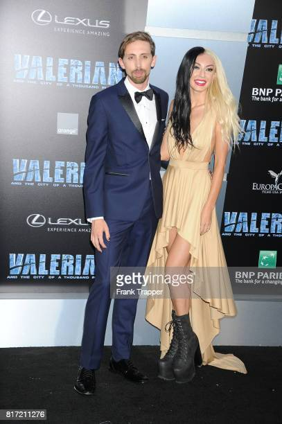 """Eric Lampaert an Jordan Dwayne attend the premiere of EuropaCorp and STX Entertainment's """"Valerian and The City of a Thousand Planets"""" held at TCL..."""