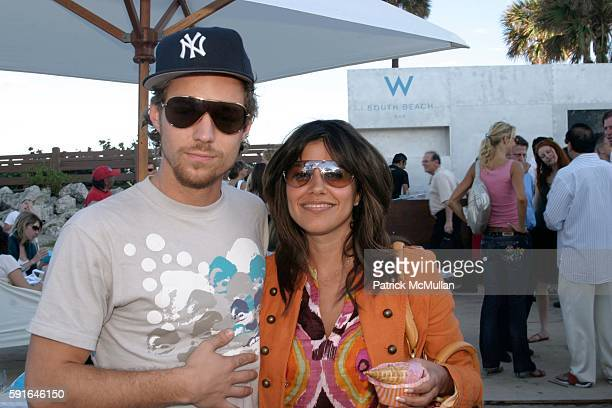 Eric Lang and Gigi Ganatra attend Commission Artist in Honor of Art Basel Miami Beach hosted by Samuel Keller at Collins Park on December 3 2005