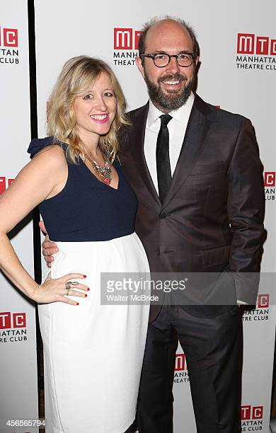 Eric Lange and wife attend the Broadway Opening Night Performance After Party for 'The Country House' at the Hard Rock Cafe on October 2 2014 in New...