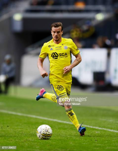 Eric Larsson of GIF Sundsvall during the Allsvenskan match between AIK and GIF Sundsvall at Friends arena on April 30 2017 in Solna Sweden