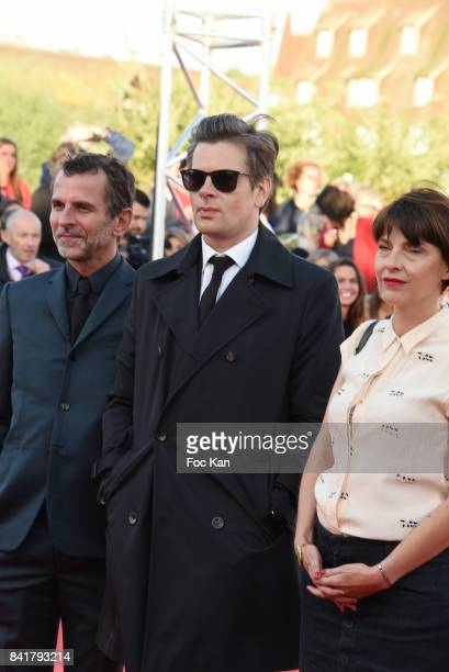 Eric Lartigau Benjamin Biolay and Axelle Ropert attend the opening ceremony of the 43rd Deauville American Film Festival on September 1 2017 in...