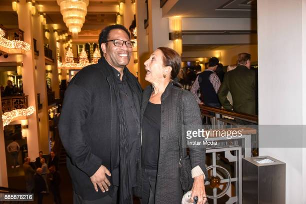 Eric Lee Johnson and Daniela Ziegler attend the award winner concert of federal singing competition on December 4 2017 in Berlin Germany