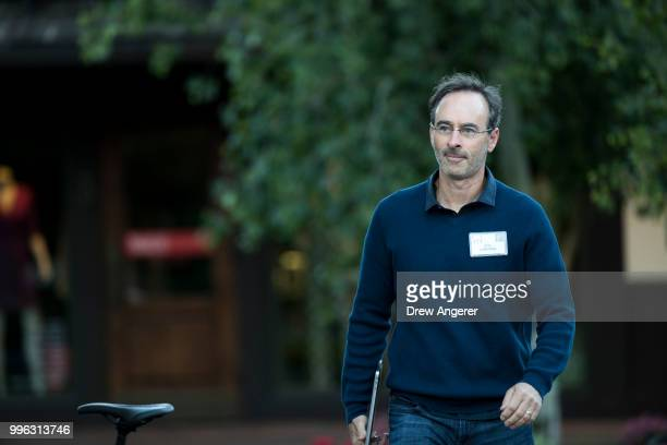 Eric Lefkofsky chief executive officer of biotechnology company Tempus arrives for a morning session of the annual Allen Company Sun Valley...