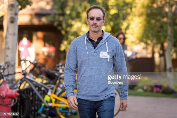 Eric Lefkofsky cofounder and chairman of Groupon Inc arrives for a morning session at the Allen Co Media and Technology Conference in Sun Valley...