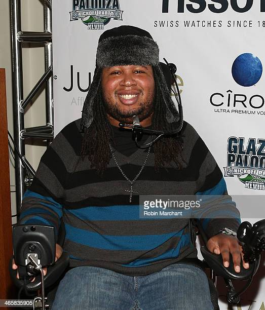 Eric LeGrand attends the 2014 Super Bowl Kickoff Players Party at Pranna Restaurant on January 29 2014 in New York City
