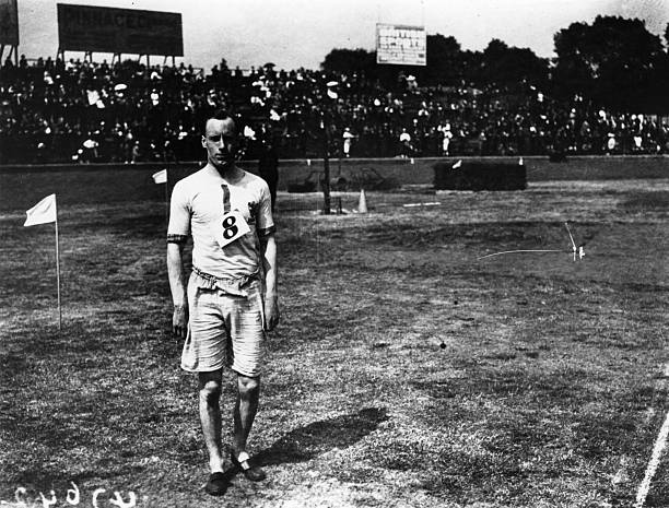 Eric Liddell winner of the 100 yards flat at the AAA Championships at Stamford Bridge London He was known as the 'Flying Scotsman' He was the 1924...