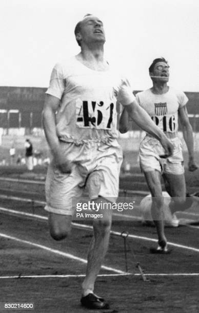 Eric Liddell winning the 400m flat race at the Olympic Games in Paris, 1924.