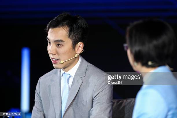 Eric Lin Head of Research China for UBS Securities Co Limited speaks with Evelyn Cheng of CNBC during Day 1 of CNBC East Tech West at LN Garden Hotel...