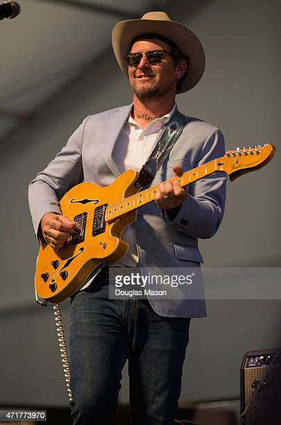 Eric Lindell performs during the 2015 New Orleans Jazz Heritage Festival presented by Shell at the Fair Grounds Race Course on April 30 2015 in New...