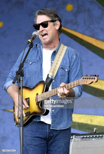 Eric Lindell performs during the 2018 New Orleans Jazz Heritage Festival at Fair Grounds Race Course on April 27 2018 in New Orleans Louisiana