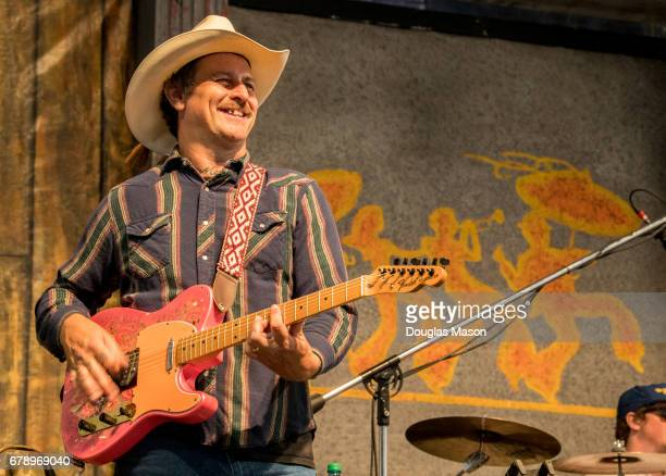 Eric Lindell performs during the New Orleans Jazz Heritage Festival 2017 at Fair Grounds Race Course on May 4 2017 in New Orleans Louisiana