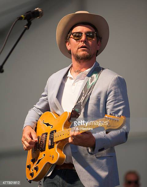 Eric Lindell performs on stage during day 4 of the New Orleans Jazz and Heritage Festival on April 30 2015 in New Orleans United States
