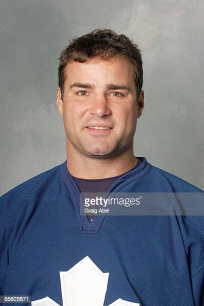Eric Lindros of the Toronto Maple Leafs poses for a portrait at Air Canada Centre on September 122005 in Toronto Ontario Canada