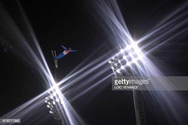 Eric Loughran competes in the men's aerials qualification event during the Pyeongchang 2018 Winter Olympic Games at the Phoenix Park in Pyeongchang...