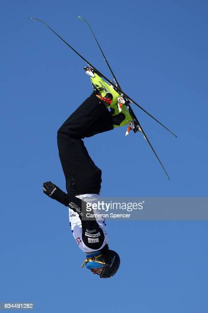 Eric Loughran of the United States performs an aerial during qualification in the FIS Freestyle Ski World Cup 2016/17 Mens Aerials at Bokwang Snow...