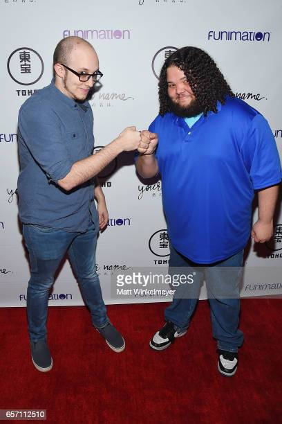 Eric Lu and Jessie Negron attend Funimation Films presents 'Your Name' Theatrical Premiere in Los Angeles CA at Yamashiro Hollywood on March 23 2017...