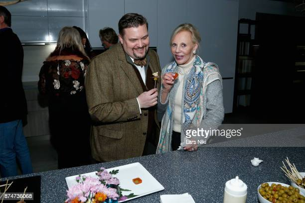 Eric Lysfshl and Meryl Erlanger attend the Blu Perfer Blue Brut Launch Party for The 2018 8th annual Better World Awards on November 15 2017 in New...
