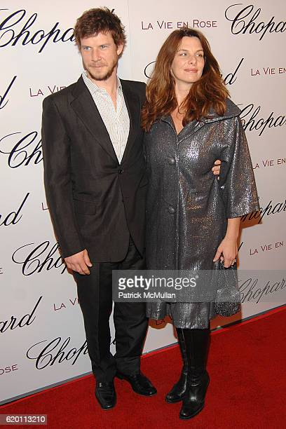 Eric Mabius and Ivy Sherman attend Evening Celebration for La Vie en Rose Actress Marion Cotillard at Chateau Marmont on February 4 2008 in Hollywood...