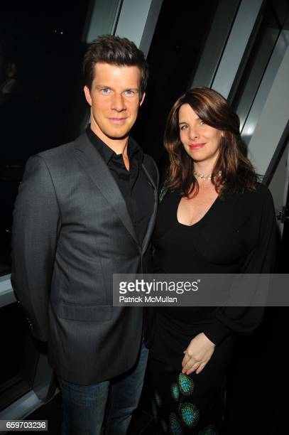Eric Mabius and Ivy Sherman attend The New DKNYMEN Fragrance launch hosted by KELLY BENSIMON and MARK VANDERLOO at Hotel on Rivington Penthouse NYC...