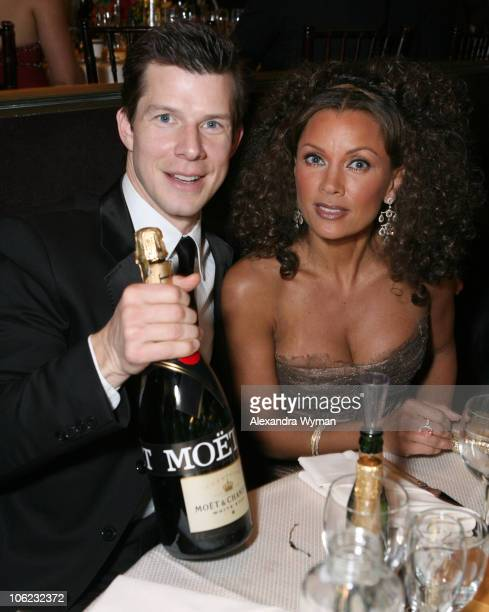 Eric Mabius and Vanessa Williams during Moet Chandon Inside Ballroom at the 64th Annual Golden Globe Awards at Beverly Hilton in Beverly Hills...
