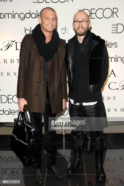 Eric Mancuso and Frederick Thrane attend ELLE DECOR and BLOOMINGDALE'S Celebrate Reopening of Furniture Department With Auction Benefitting CFDA at...