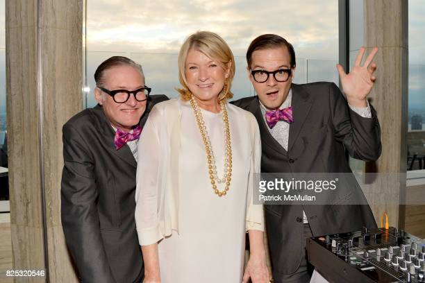 Eric Martha Stewart and Andrew at Magrino PR 25th Anniversary at Bar SixtyFive at Rainbow Room on July 25 2017 in New York City