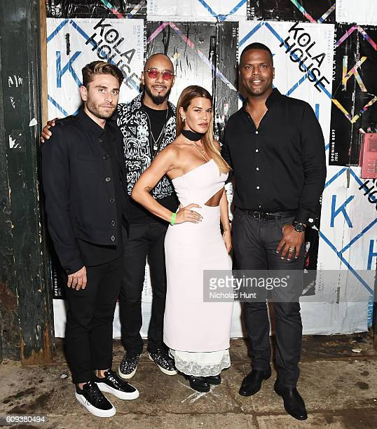 Eric Marx Swizz Beatz Jenne Lombardo and AJ Calloway attend the Kola House Opening Party at Kola House on September 20 2016 in New York City