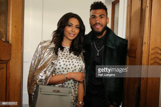 Eric Maxim Choupo-Moting and his wife Nevin attend the La Martina get together at their showroom on April 5, 2017 in Duesseldorf, Germany.