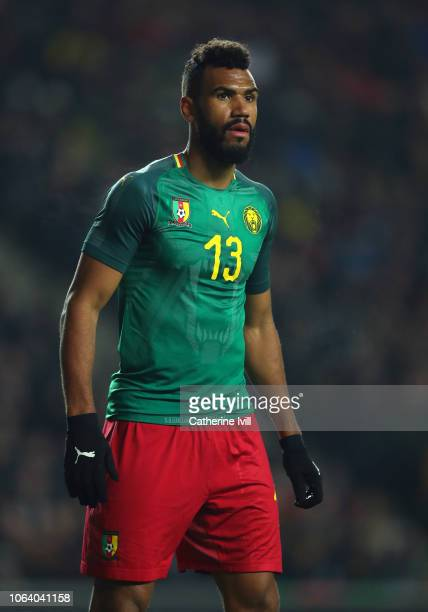 Eric Maxim Choupo-Moting of Cameroon during the International Friendly match between Brazil and Cameroon at Stadium mk on November 20, 2018 in Milton...