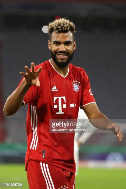 Eric Maxim Choupo-Moting of FC Bayern München celebrates scoring the opening goal during the DFB Cup first round match between 1. FC Düren and FC...