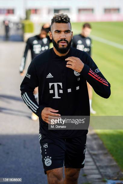 Eric Maxim ChoupoMoting of FC Bayern Muenchen arrives for a training session at Saebener Strasse training ground on October 23 2020 in Munich Germany