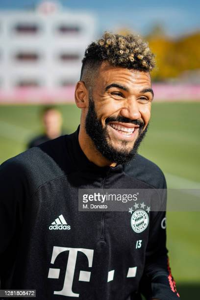 Eric Maxim ChoupoMoting of FC Bayern Muenchen smiles during a training session at Saebener Strasse training ground on October 23 2020 in Munich...
