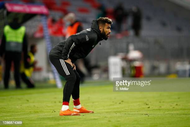 Eric Maxim ChoupoMoting of FC Bayern Muenchen warms up during the half time break of the Bundesliga match between FC Bayern Muenchen and SV Werder...