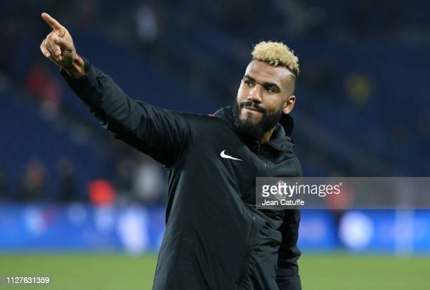 Eric Maxim ChoupoMoting of PSG celebrates the victory following the French Cup quarterfinal match between Paris SaintGermain and Dijon Football...