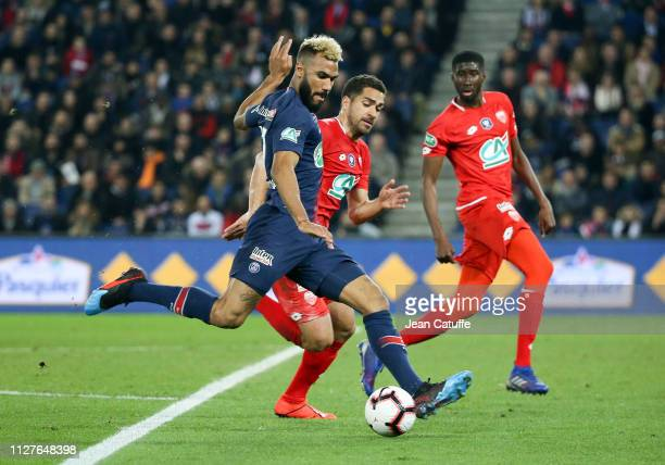 Eric Maxim ChoupoMoting of PSG during the French Cup quarterfinal match between Paris SaintGermain and Dijon Football Coted'Or at Parc des Princes...