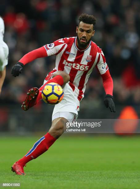 Eric Maxim ChoupoMoting of Stoke City during the Premier League match between Tottenham Hotspur and Stoke City at Wembley Stadium on December 9 2017...