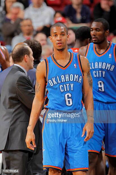 Eric Maynor of the Oklahoma City Thunder gets ready to take on the Sacramento Kings on February 12 2011 at ARCO Arena in Sacramento California NOTE...