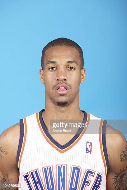 Eric Maynor of the Oklahoma City Thunder poses for a photo during 2010 Media Day September 27 2010 at the Ford Center in Oklahoma City Oklahoma NOTE...