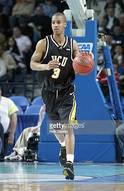 Eric Maynor of the Virginia Commonwealth Rams dribbles the ball against the Duke Blue Devils during round one of the NCAA Men's Basketball Tournament...