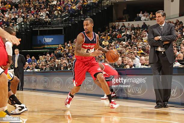 Eric Maynor of the Washington Wizards drives against the Indiana Pacers at Bankers Life Fieldhouse on November 29 2013 in Indianapolis Indiana NOTE...