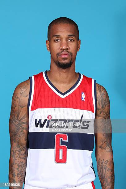 Eric Maynor of the Washington Wizards poses for a portrait during 2013 NBA Media Day at the Verizon Center on September 27 2013 in Washington DC NOTE...