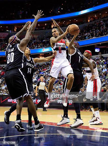 Eric Maynor of the Washington Wizards puts up a shot against the Brooklyn Nets during the second half of the Wizards 112108 overtime win at Verizon...