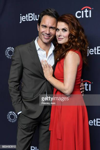 Eric McCormack and Debra Messing attend PaleyFest Los Angeles 2018 Will Grace at Dolby Theatre on March 17 2018 in Hollywood California