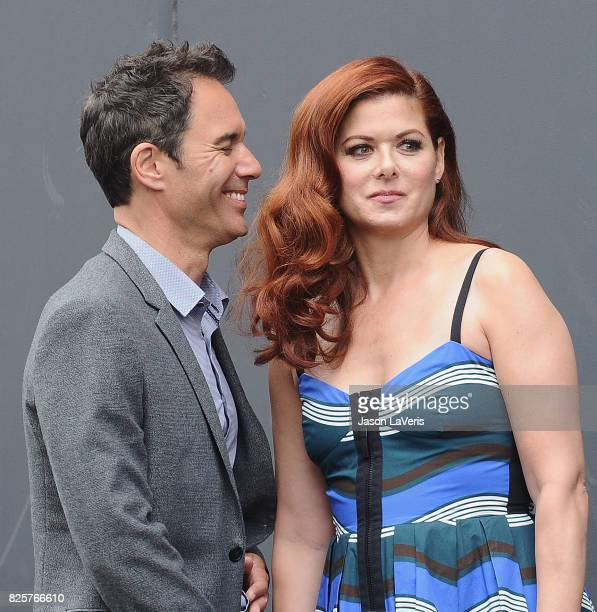 Eric McCormack and Debra Messing attends the 'Will Grace' start of production kick off event and ribbon cutting ceremony at Universal City Plaza on...
