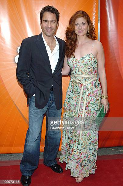 Eric McCormack and Debra Messing during 2005/2006 NBC UpFront Red Carpet at Radio City Music Hall in New York NY United States