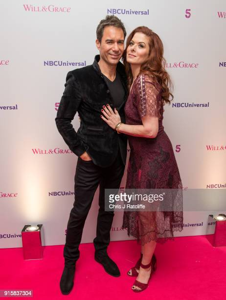 Eric McCormack and Debra Messing from Will Grace during a BAFTA screening plus QA at BAFTA on February 8 2018 in London England