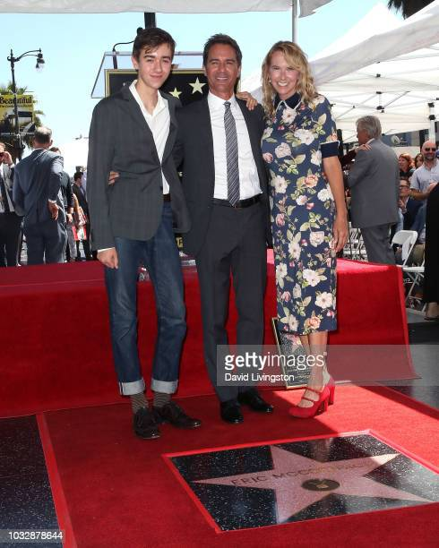 Eric McCormack and family attend his being honored with a Star on the Hollywood Walk of Fame on September 13 2018 in Hollywood California