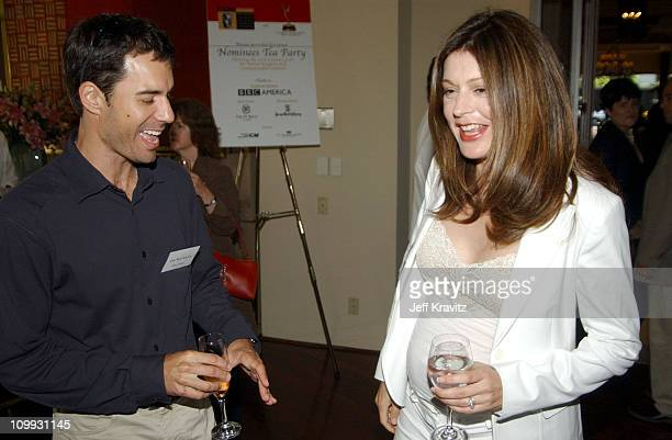 Eric McCormack and Jane Leeves during The 1st Annual BAFTA/LA ATAS Emmy Tea Party at St Regis Hotel in Los Angeles California United States